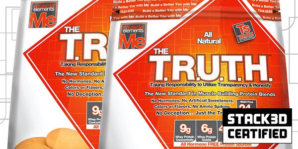 Muscle Elements the Truth free of amino spiking and with 4% extra protein