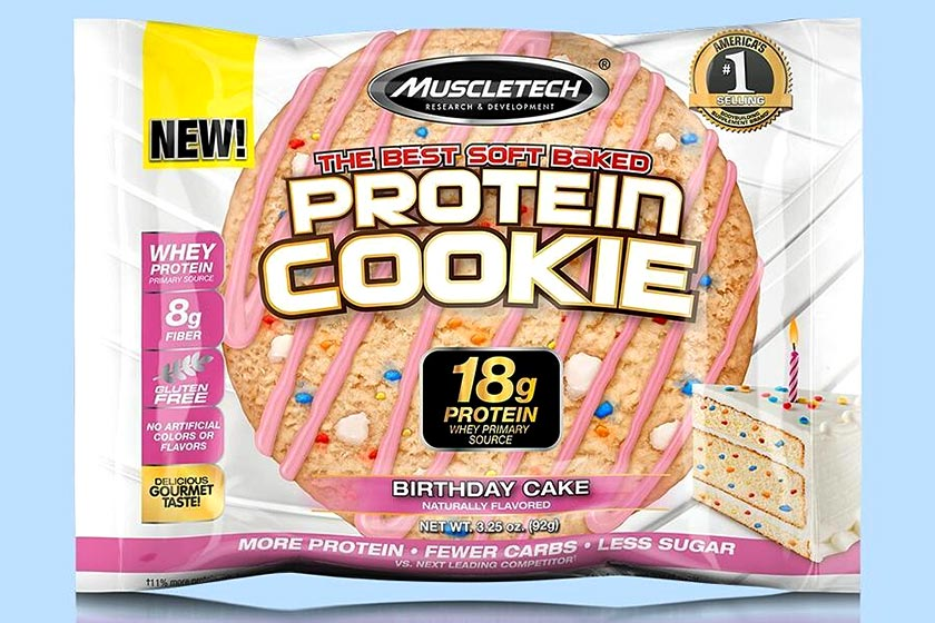 Birthday Cake Muscletech Protein Cookie