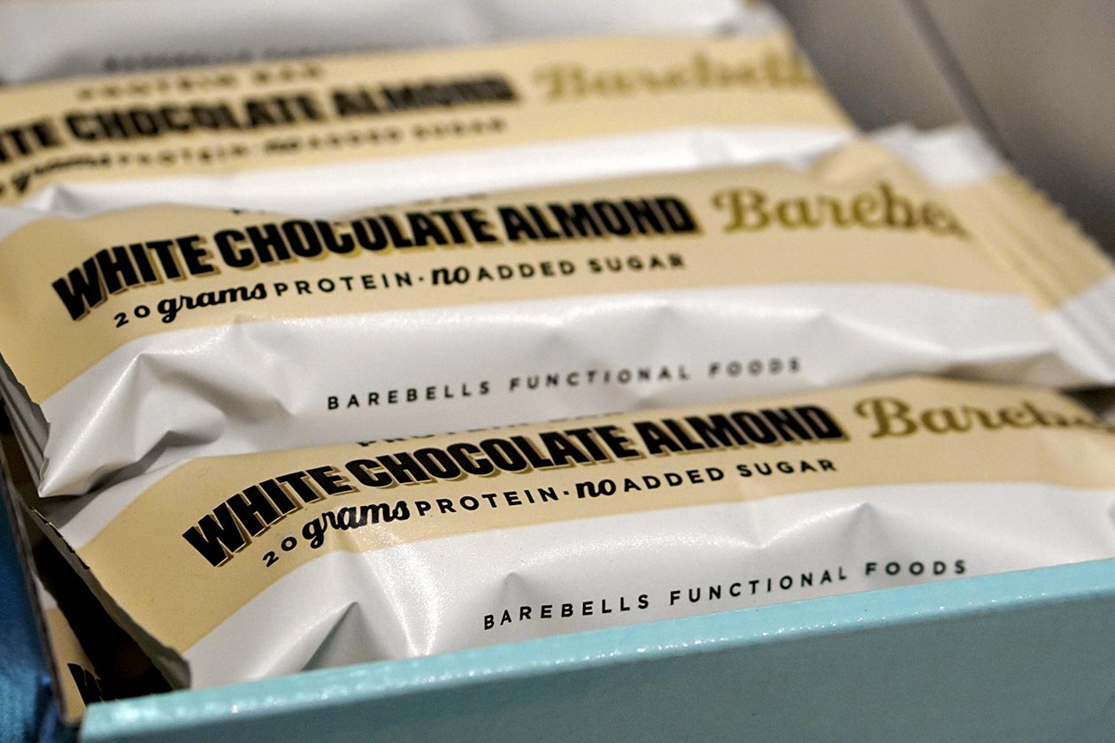 white chocolate almond barebells