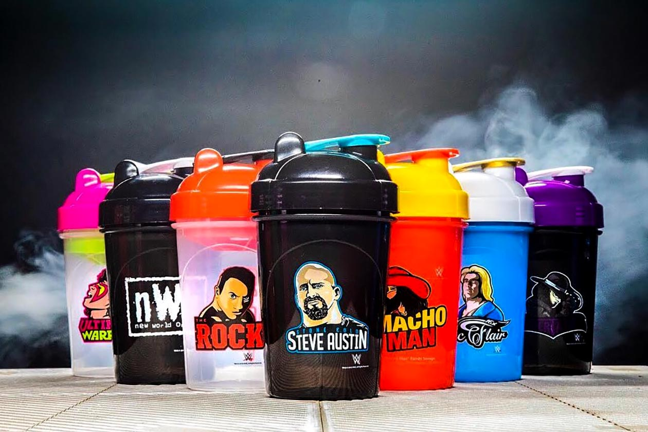 gamma labs partners with the wwe for a series of 16oz shakers
