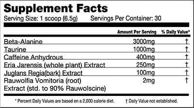 Killer Labz packs 6 ingredients into its high stim pre