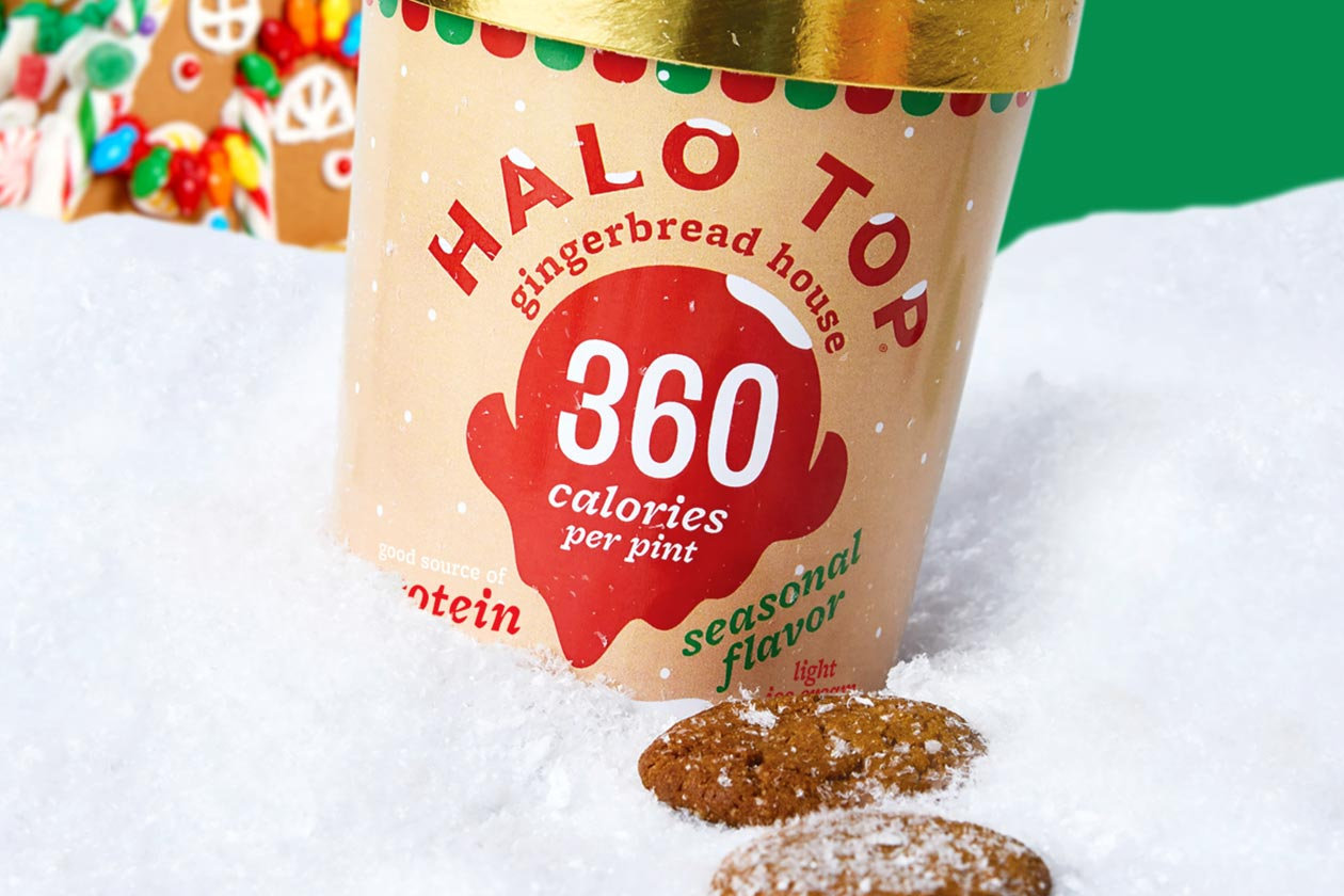 gingerbread house halo top