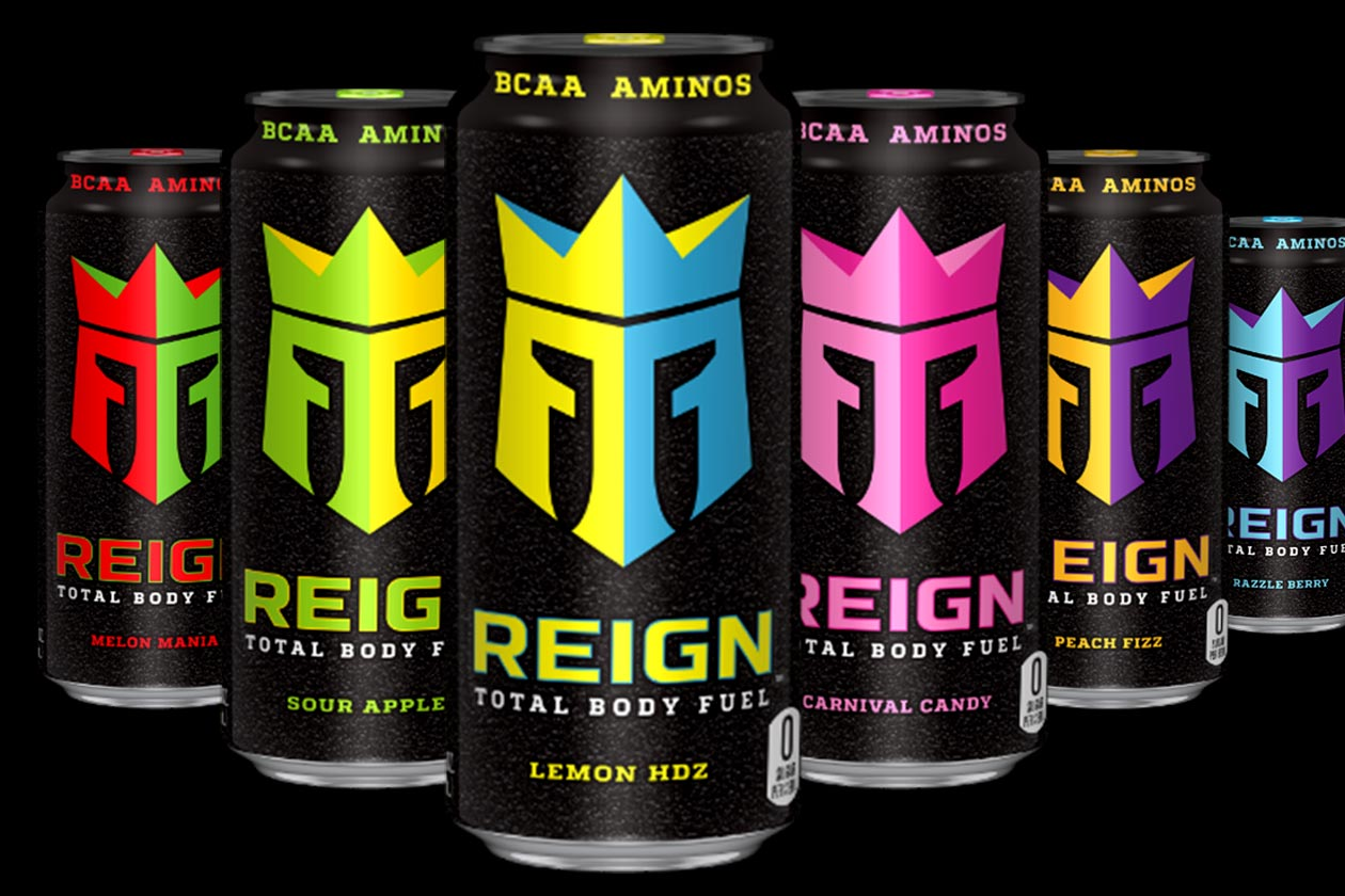 Reign Total Body Fuel featuring natural caffeine, BCAAs and