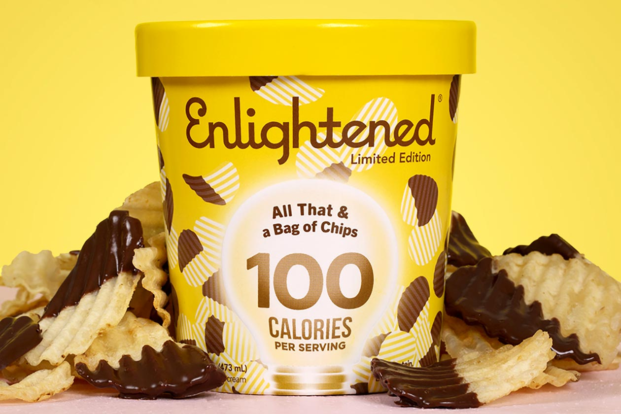 Enlightened releases a limited edition potato chip flavored protein ice cream