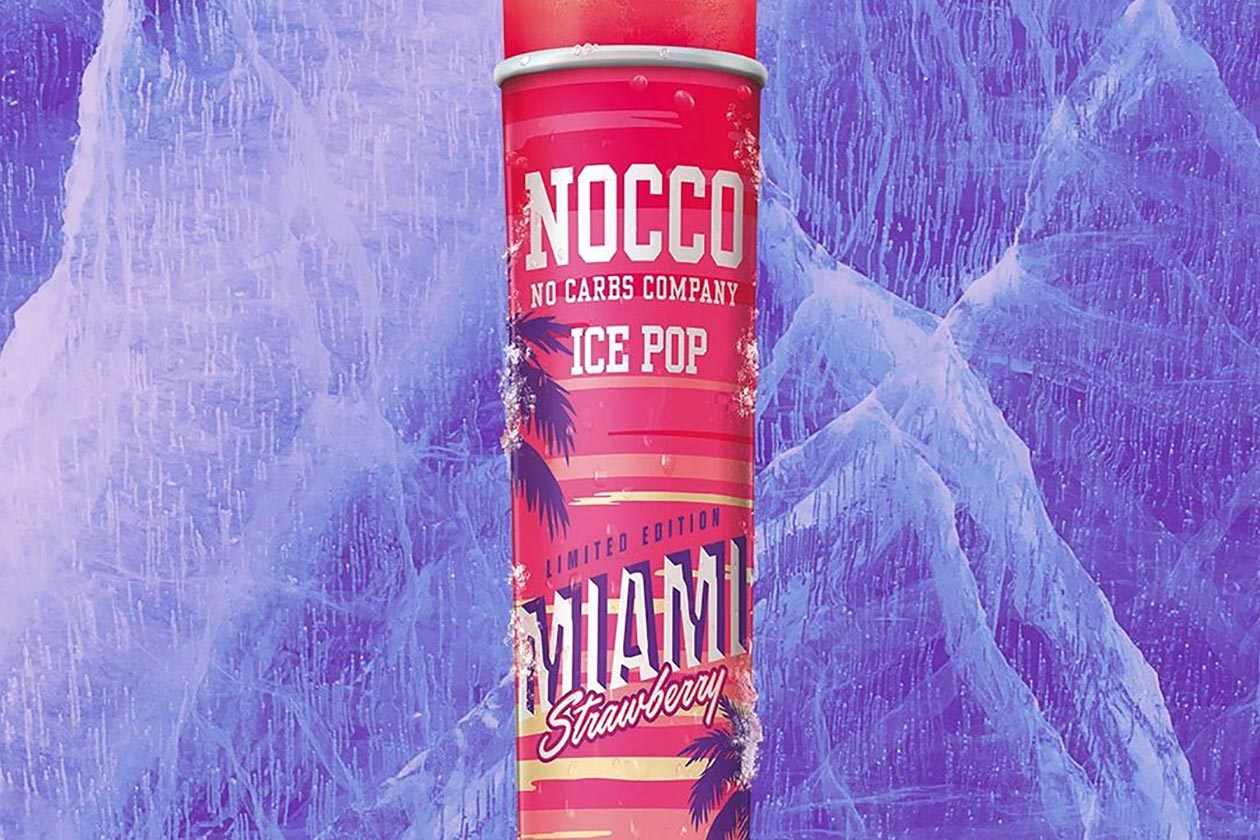 nocco miami strawberry ice pop