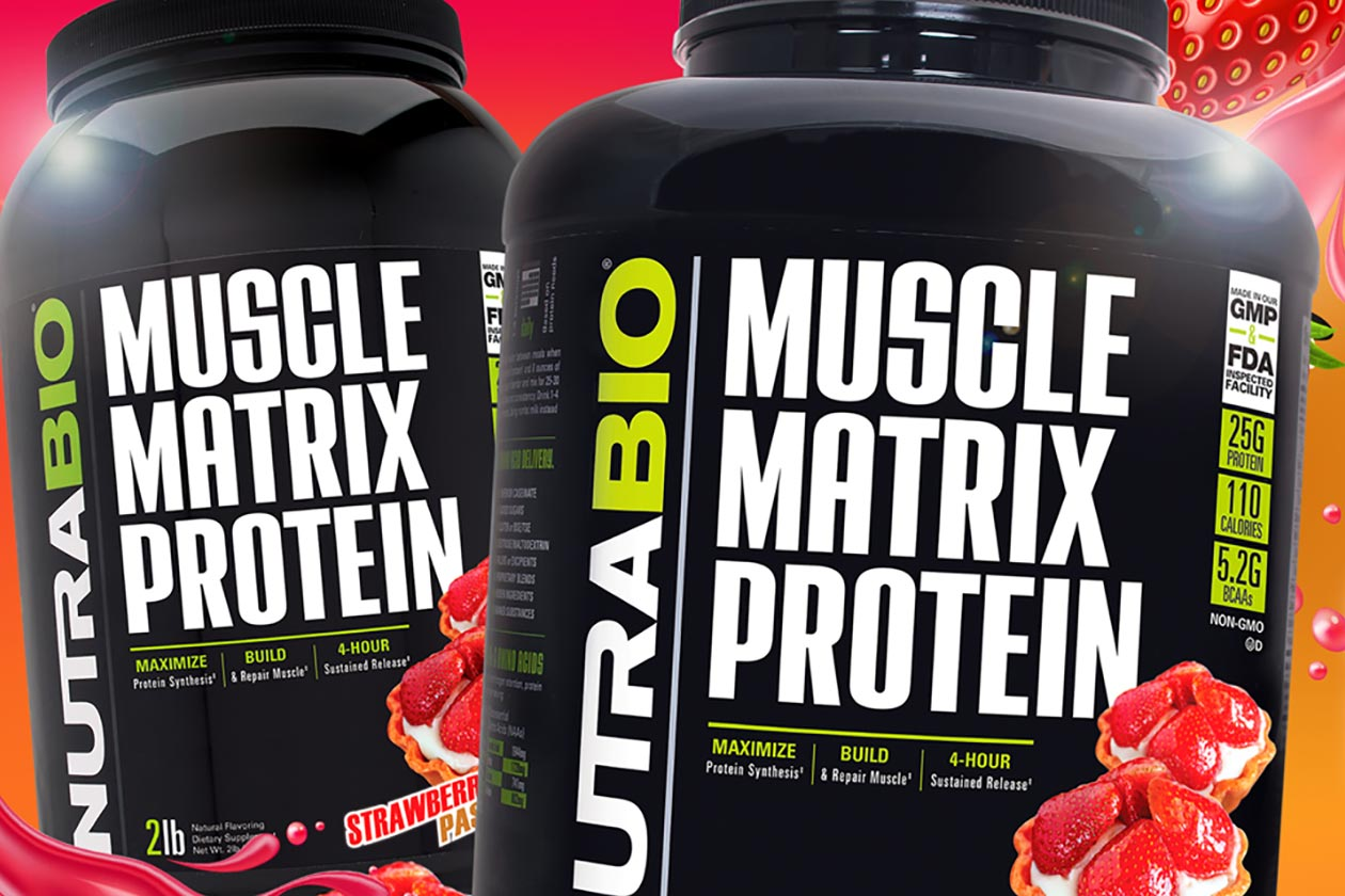 strawberry pastry nutrabio muscle matrix