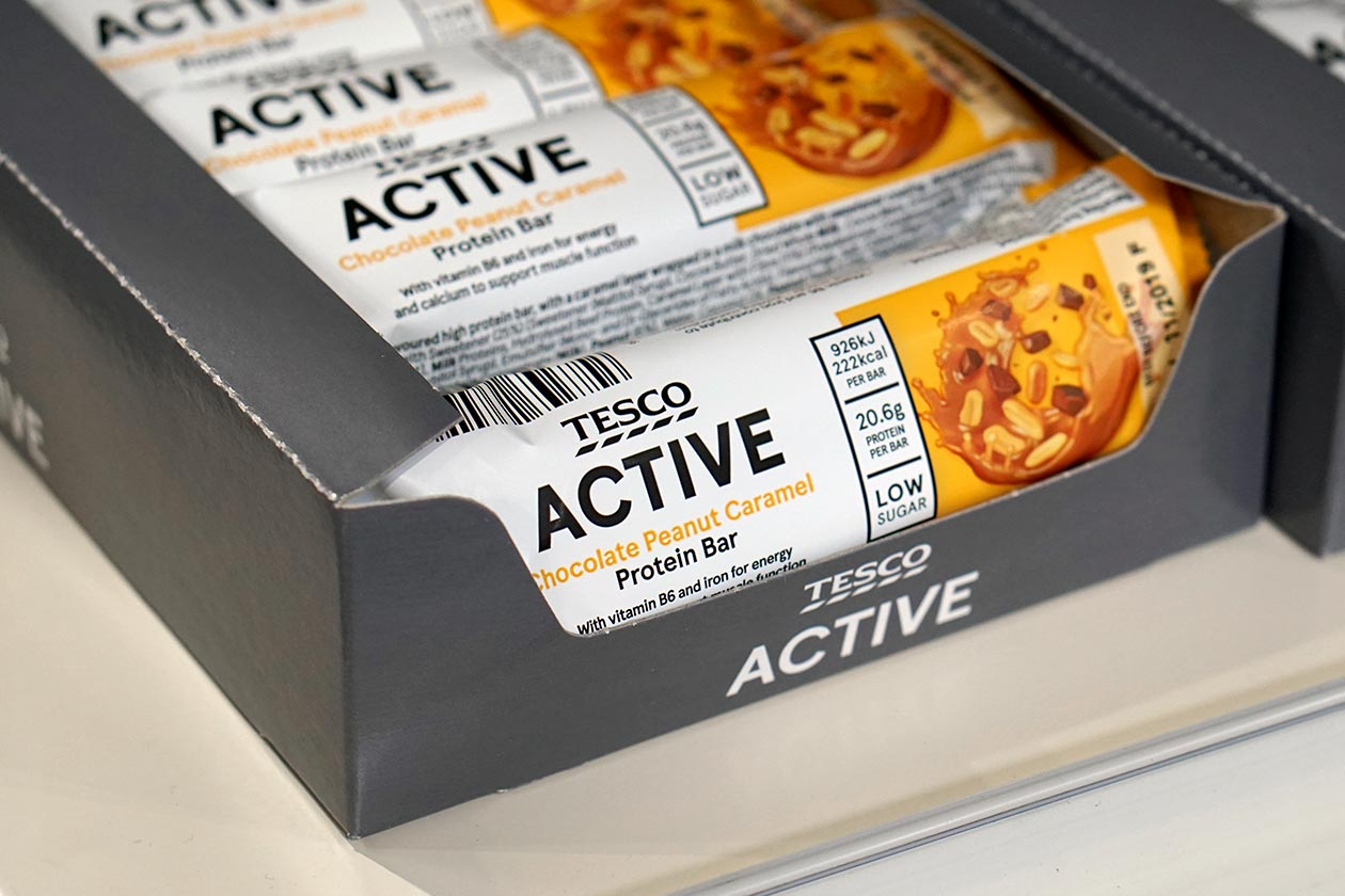 tesco active protein bar
