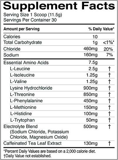 R1 Essential Amino 9 comes with 7.5g of all nine EAAs for recovery
