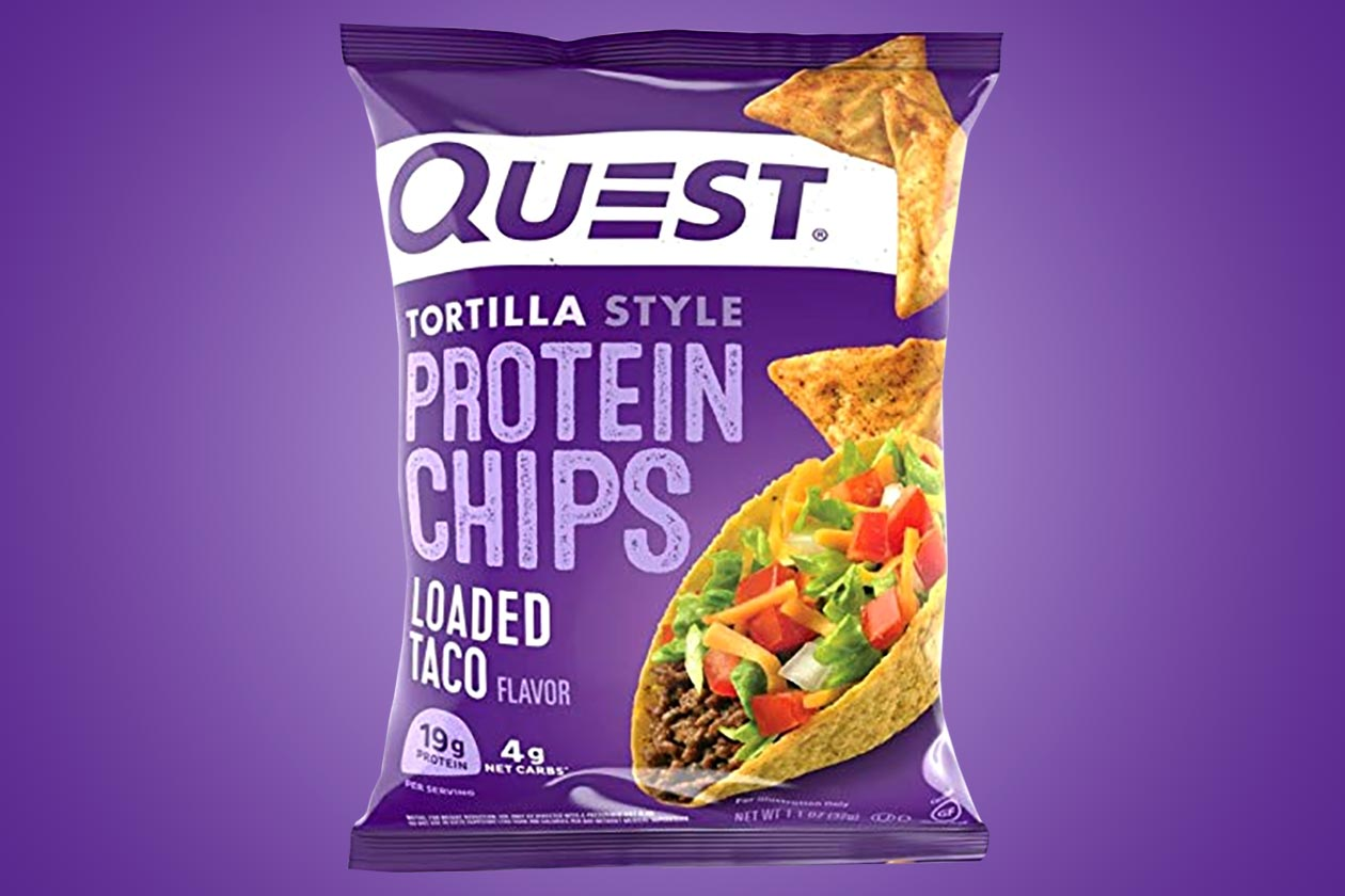 loaded taco quest protein chips