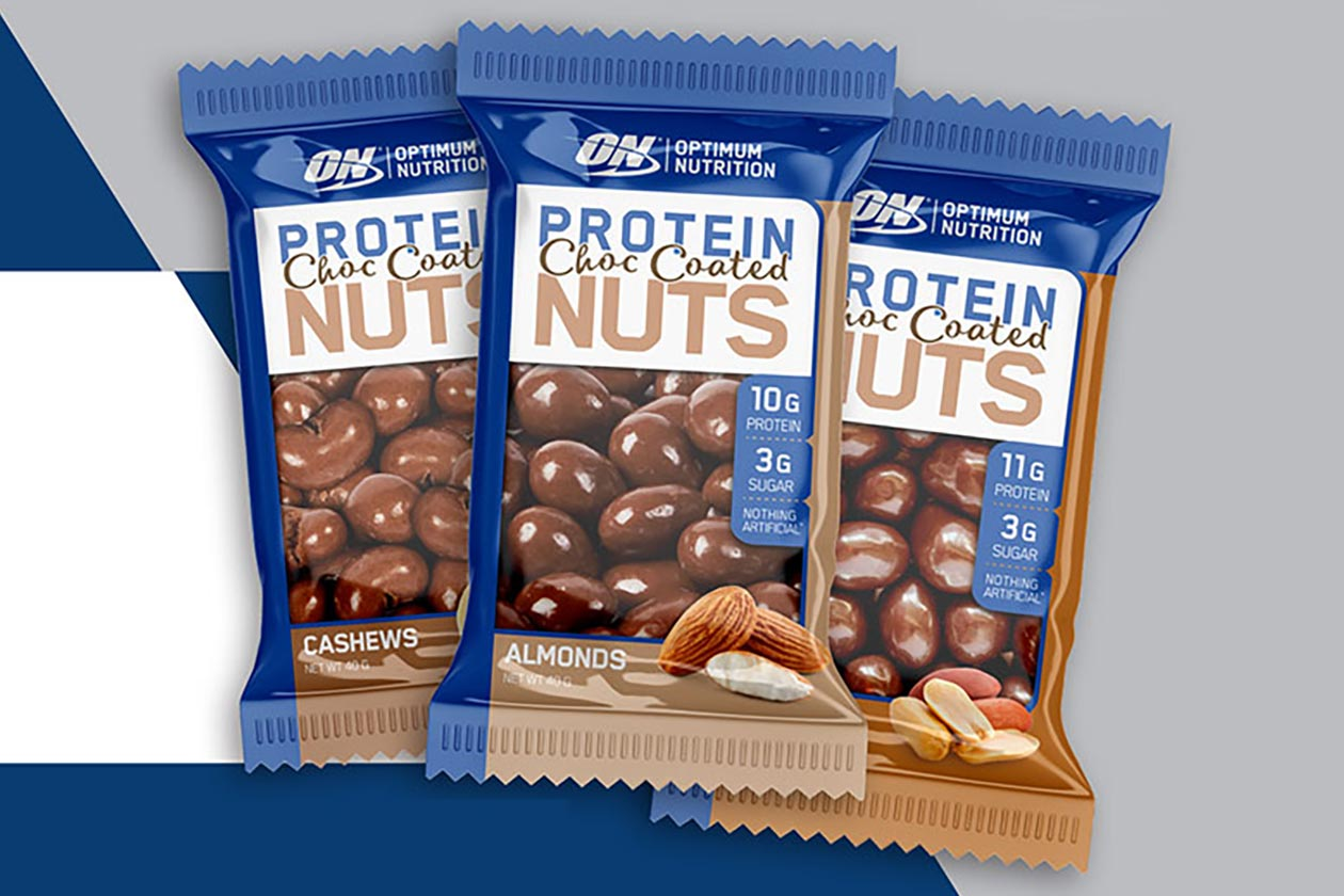 optimum nutrition protein choc coated nuts