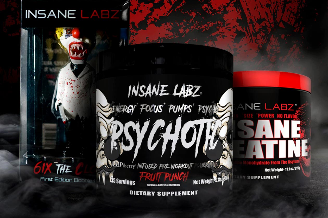 Insane Labz Psychotic Black designed as a more moderate pre