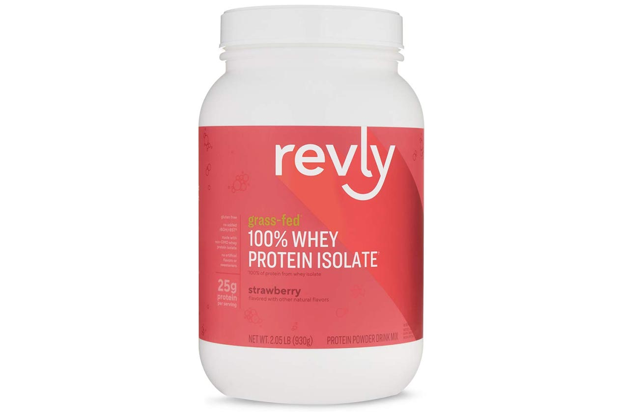 strawberry revly grass fed whey isolate