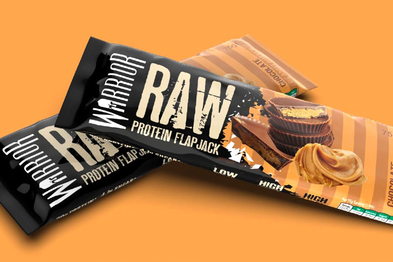 chocolate peanut butter warrior raw protein flapjack