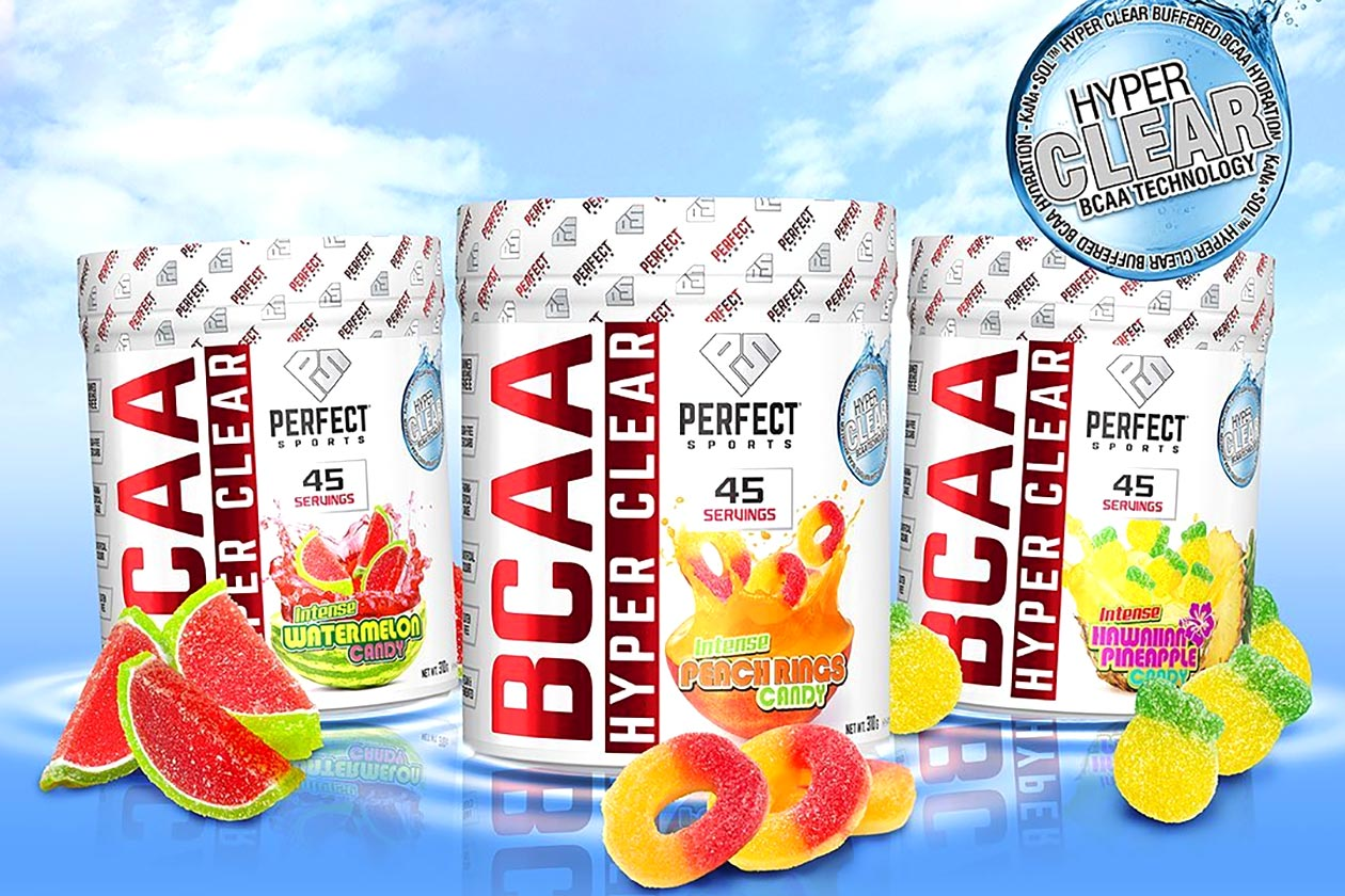 perfect sports bcaa hyper clear