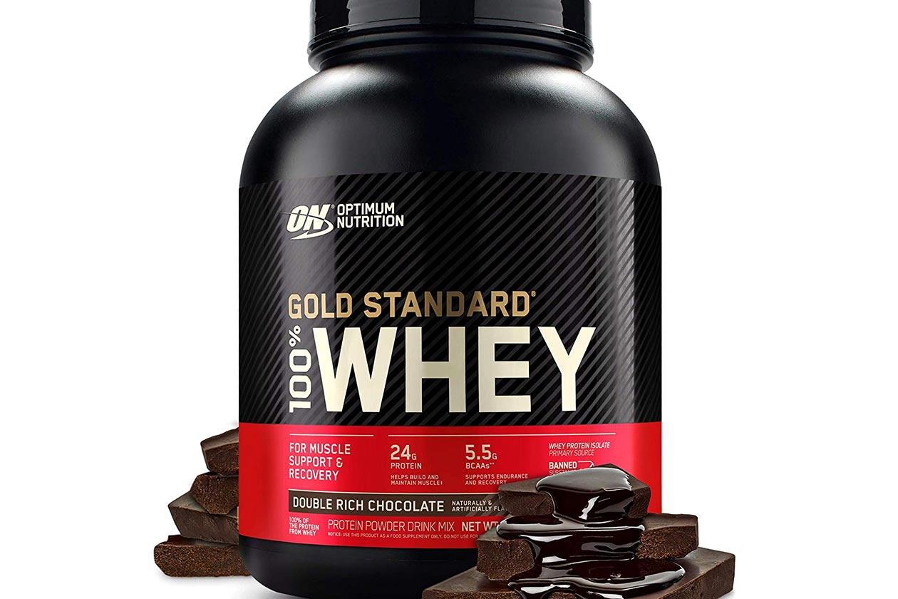 optimum nutrition new gold standard whey branding
