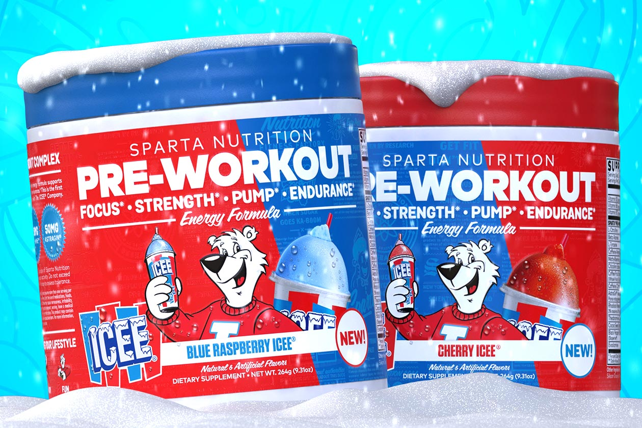 Sparta Nutrition Announces Authnetic Icee Flavors Of Its Pre Workout