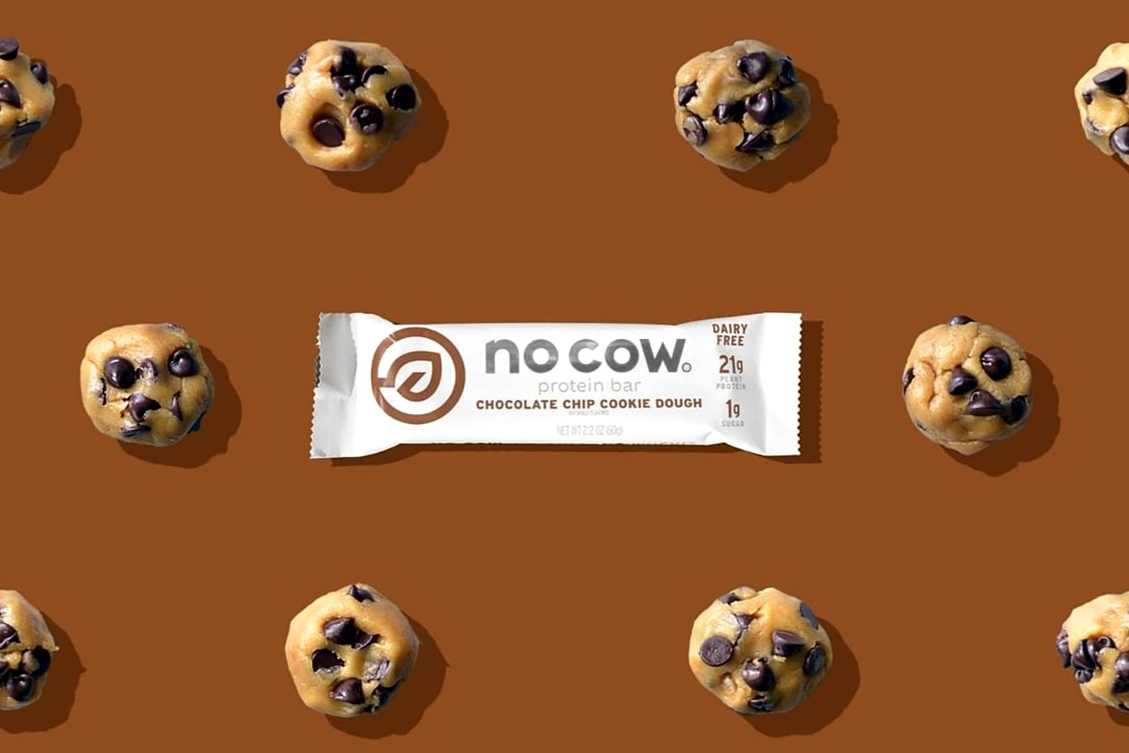 chocolate chip cookie dough no cow protein bar