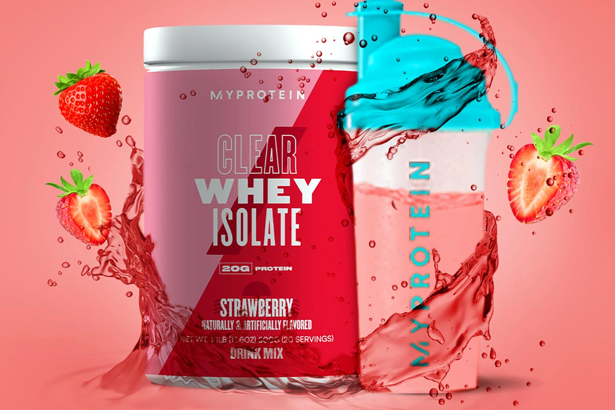 myprotein strawberry cranberry apple clear whey isolate