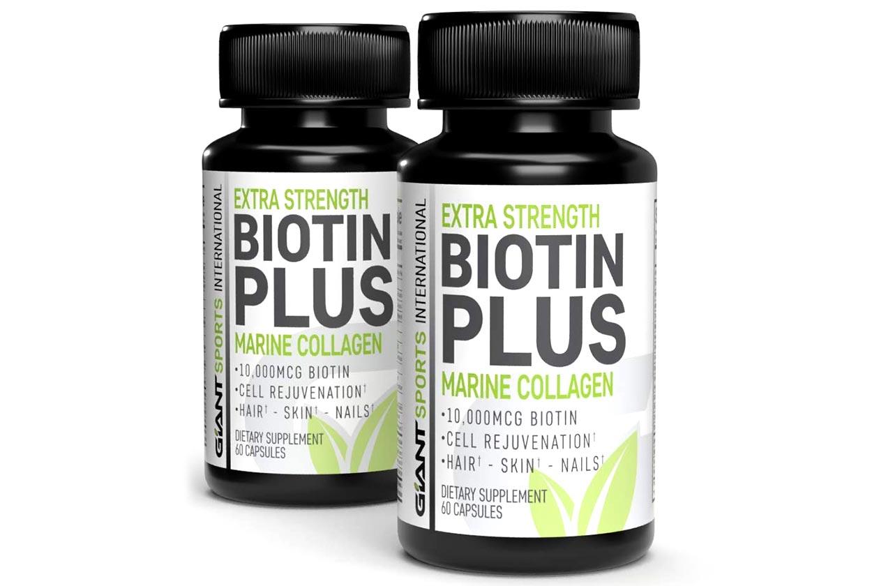 giant sports biotin plus marine collagen