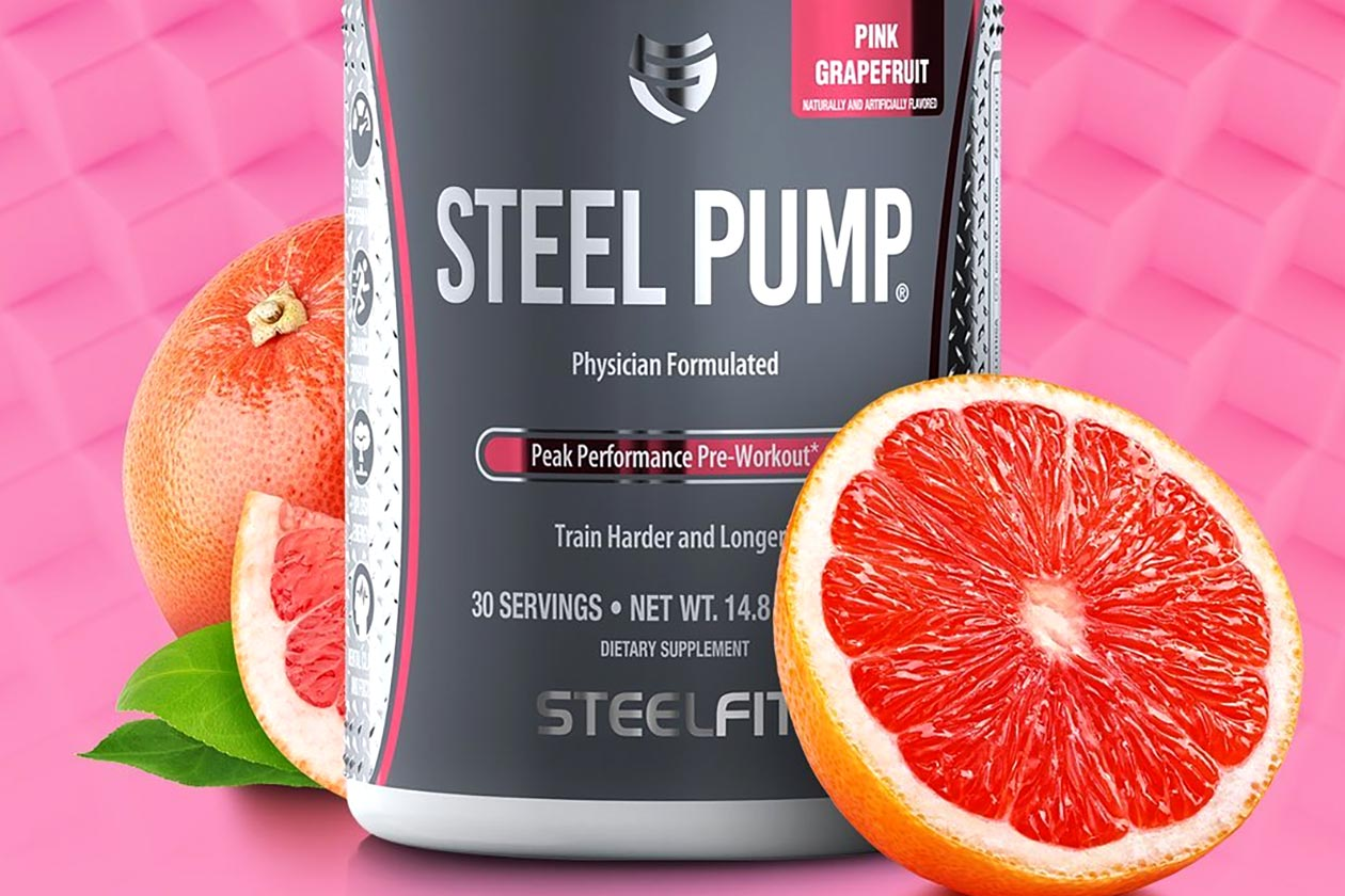pink grapefruit steel pump