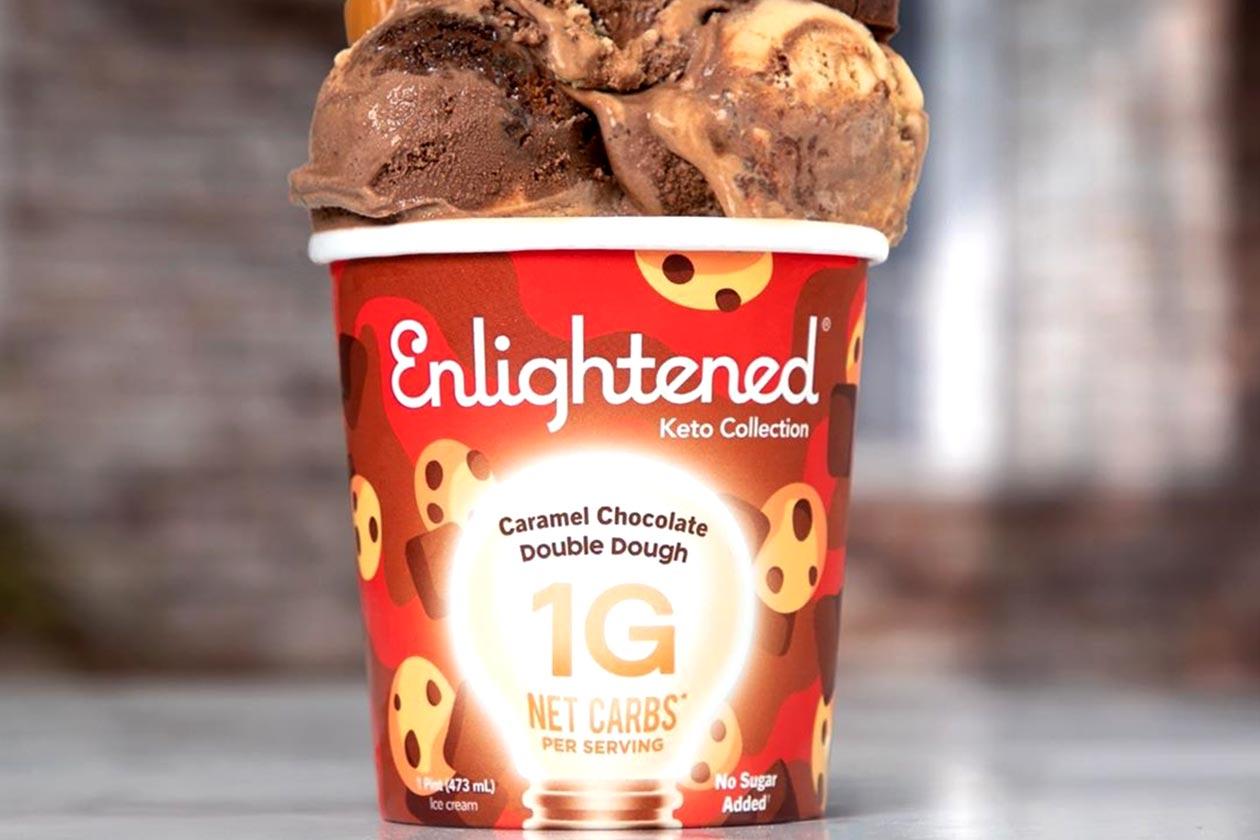 enlightened caramel chocolate double dough keto ice cream