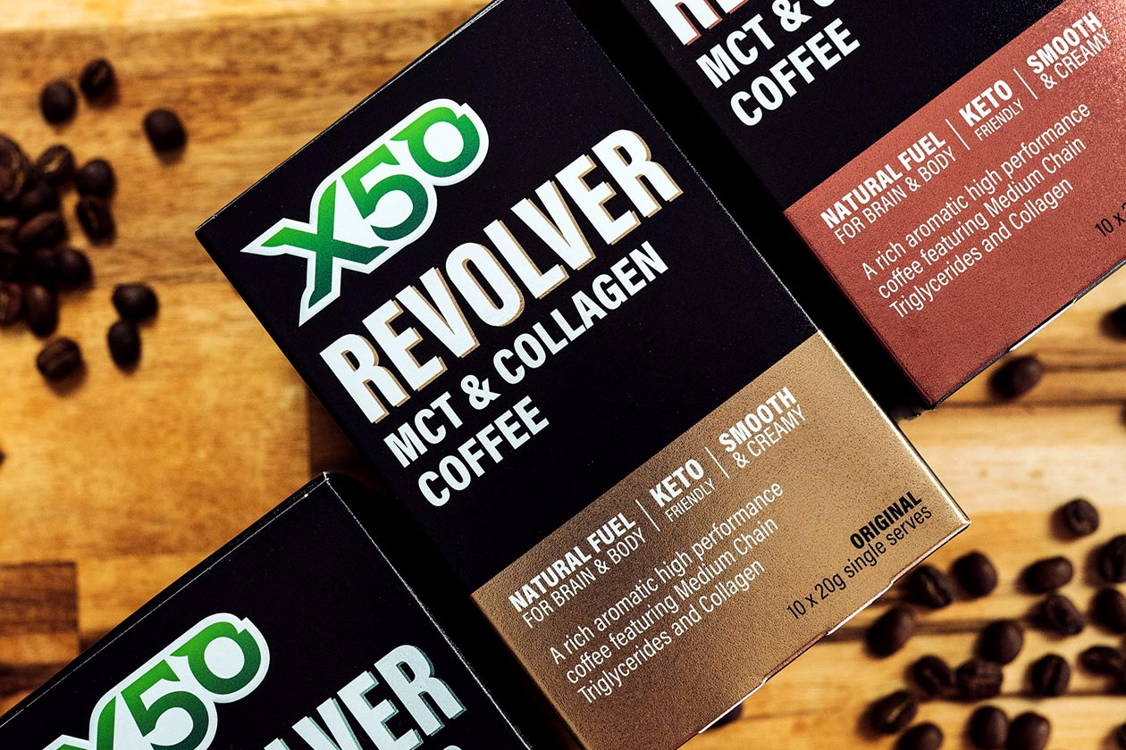 x50 revolver coffee boxes and superfood version