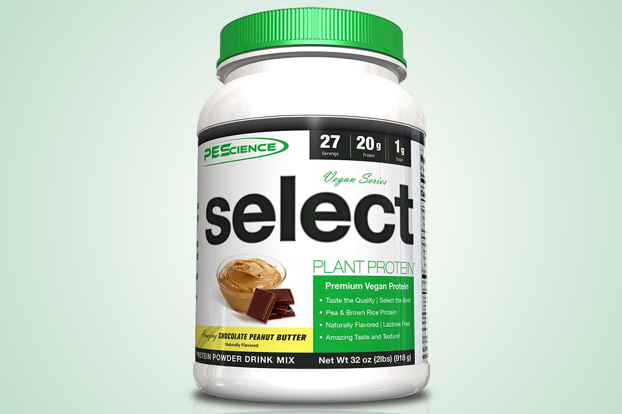 pes chocolate peanut butter vegan select protein