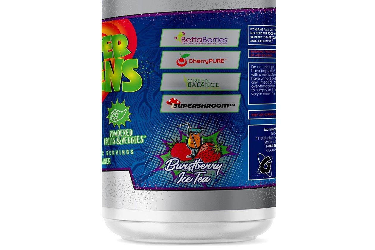 glaxon burstberry ice tea supergreens