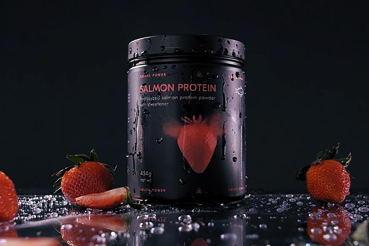 amata power salmon protein powder