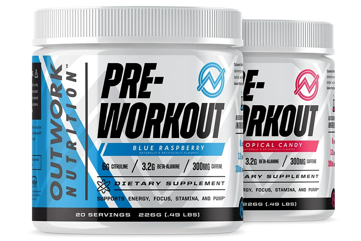 outwork nutrition pre-workout and recovery