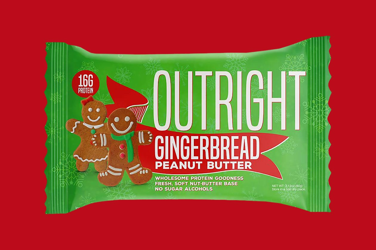 gingerbread outright protein bar