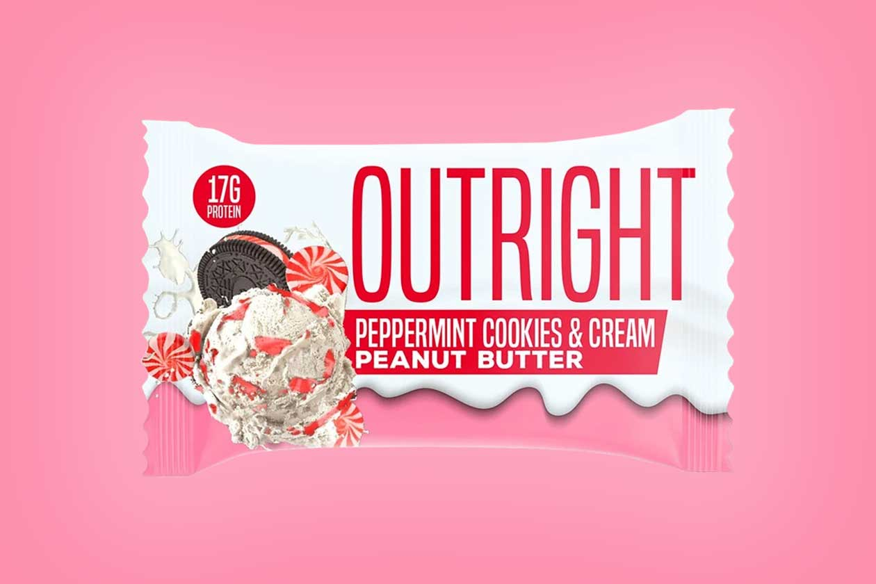 peppermint cookies and cream outright protein bar