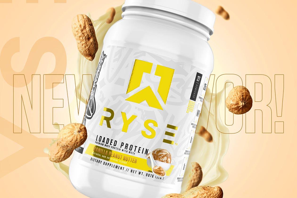 ryse vanilla peanut butter loaded protein