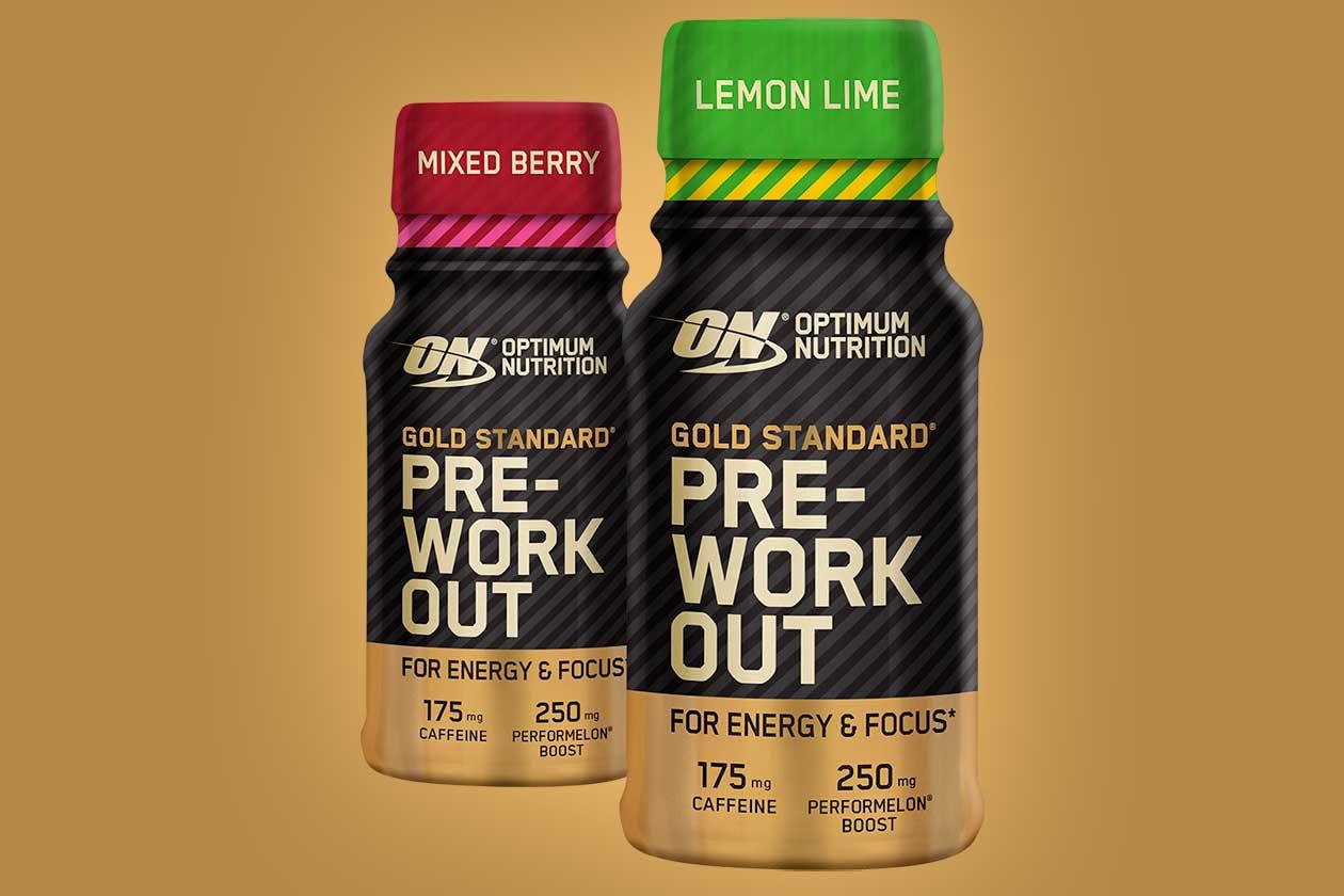 optimum gold standard pre-workout shot