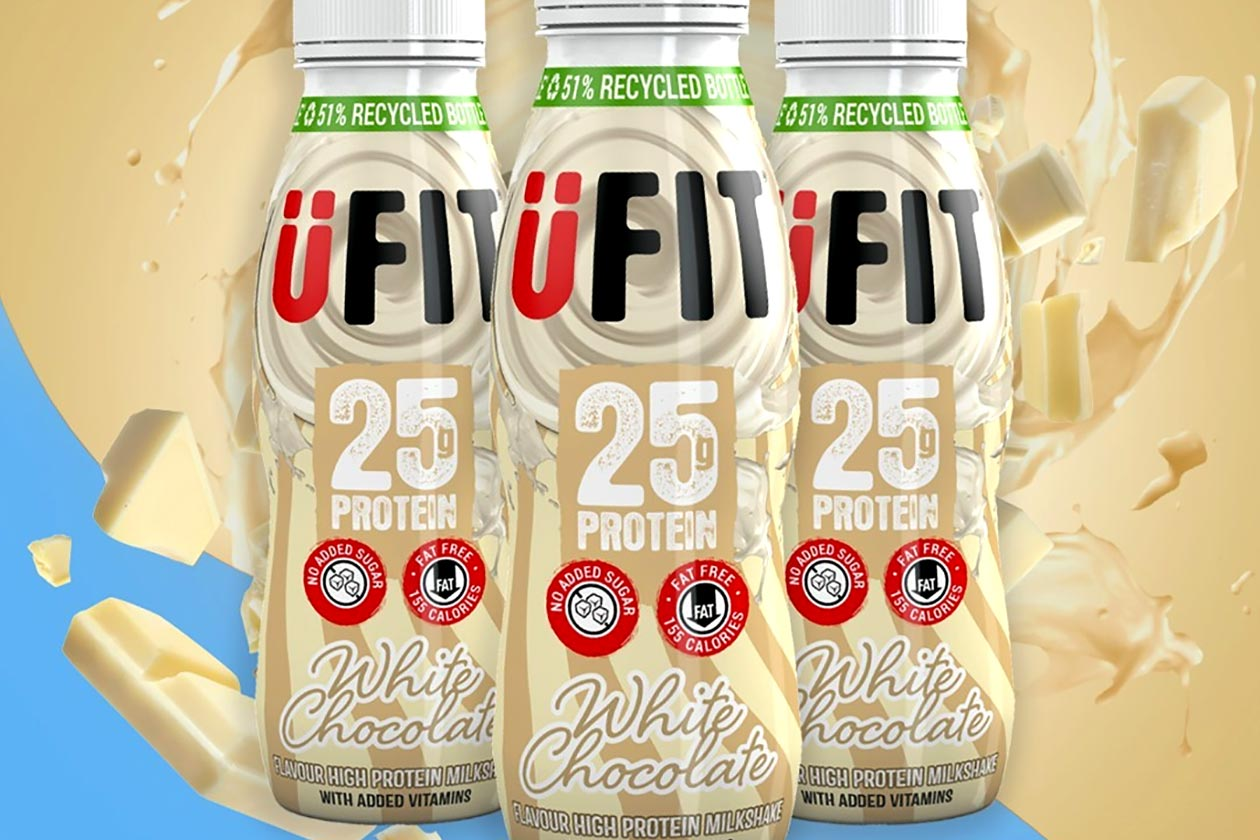 ufit white chocolate protein shake