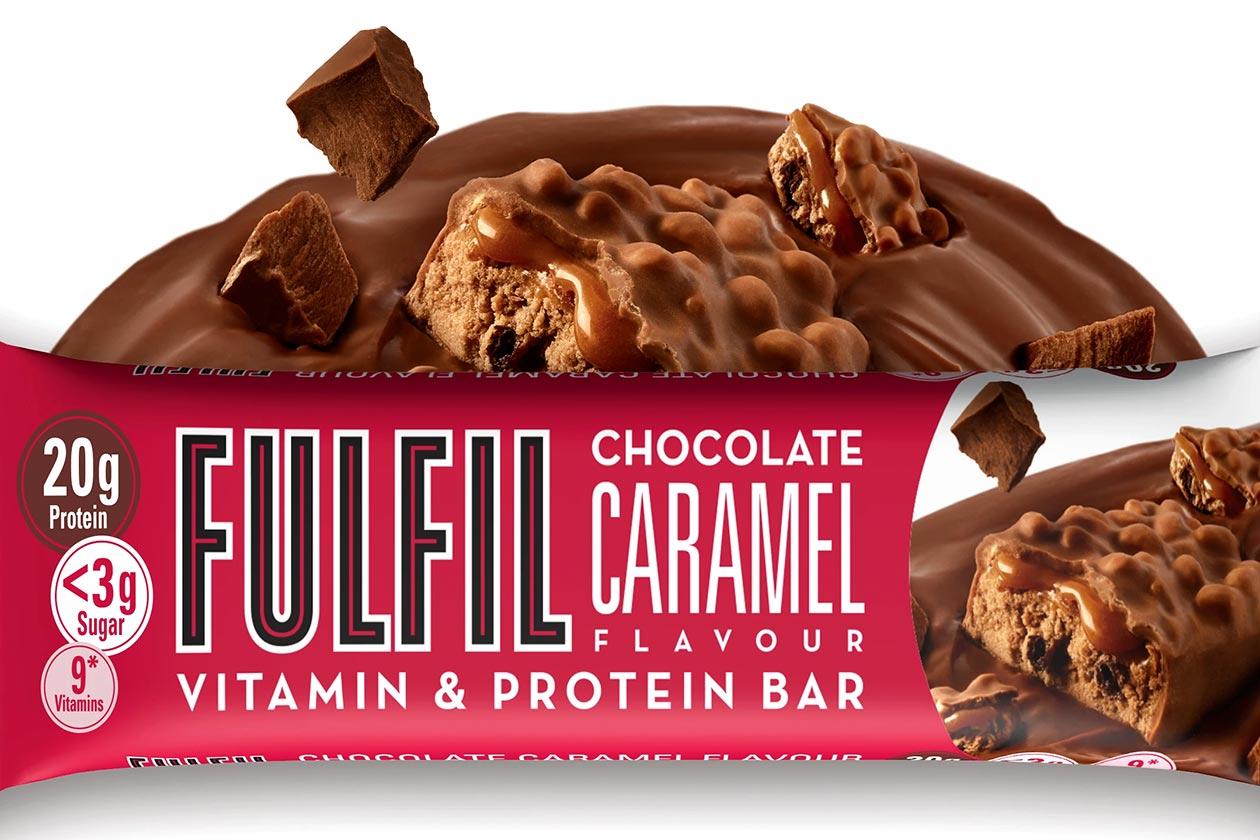 Conozca la barra de proteína de caramelo de chocolate