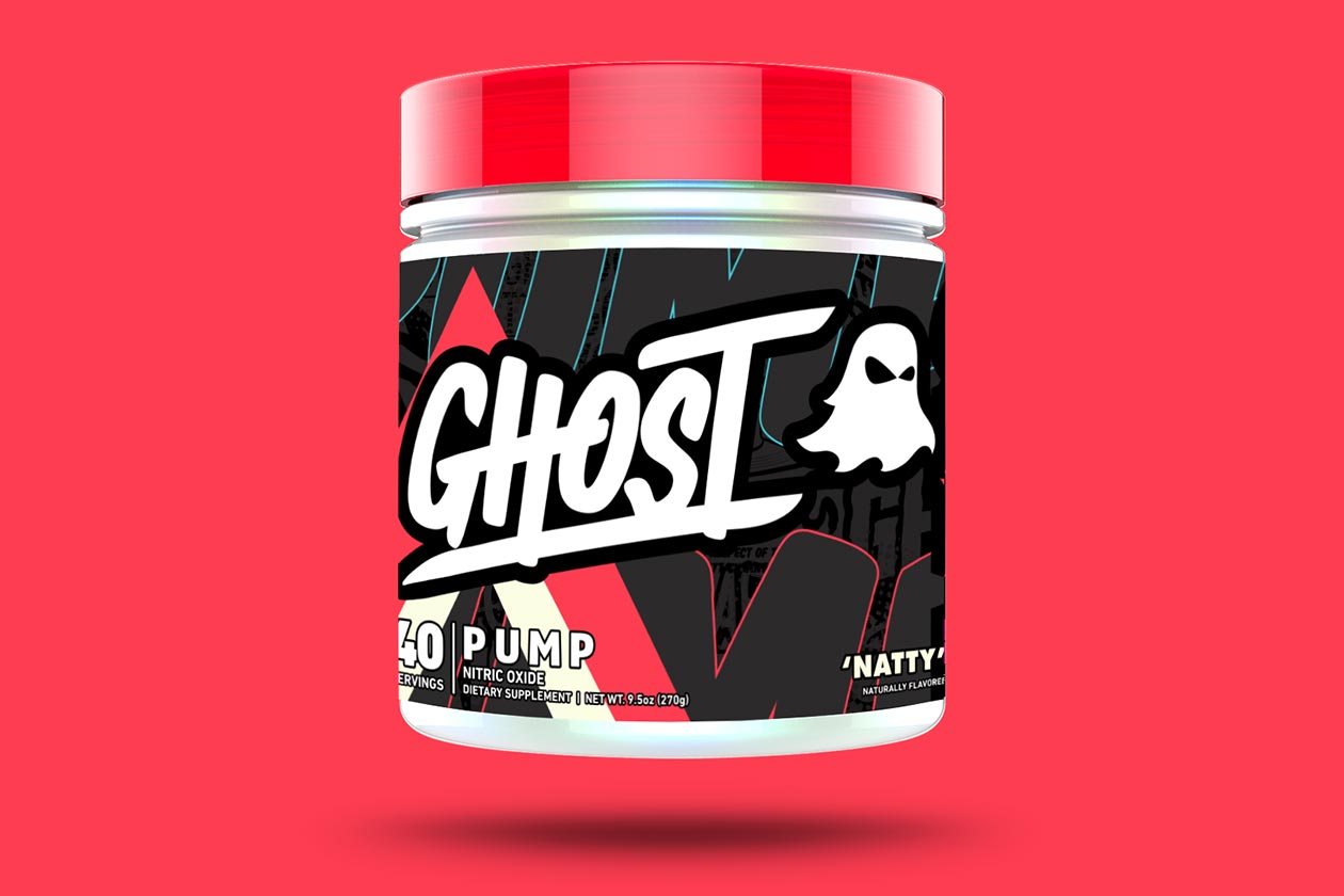 Ghost Pump V2 packed with 50% more citrulline and 3g of arginine nitrate