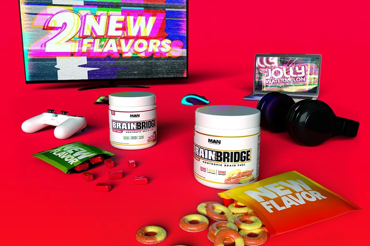 man sports two new brainbridge flavors