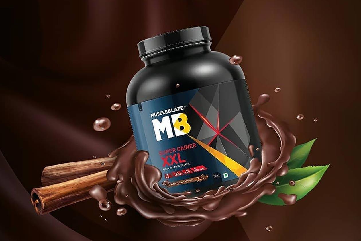 muscleblaze chocolate cinnamon super gainer xxl