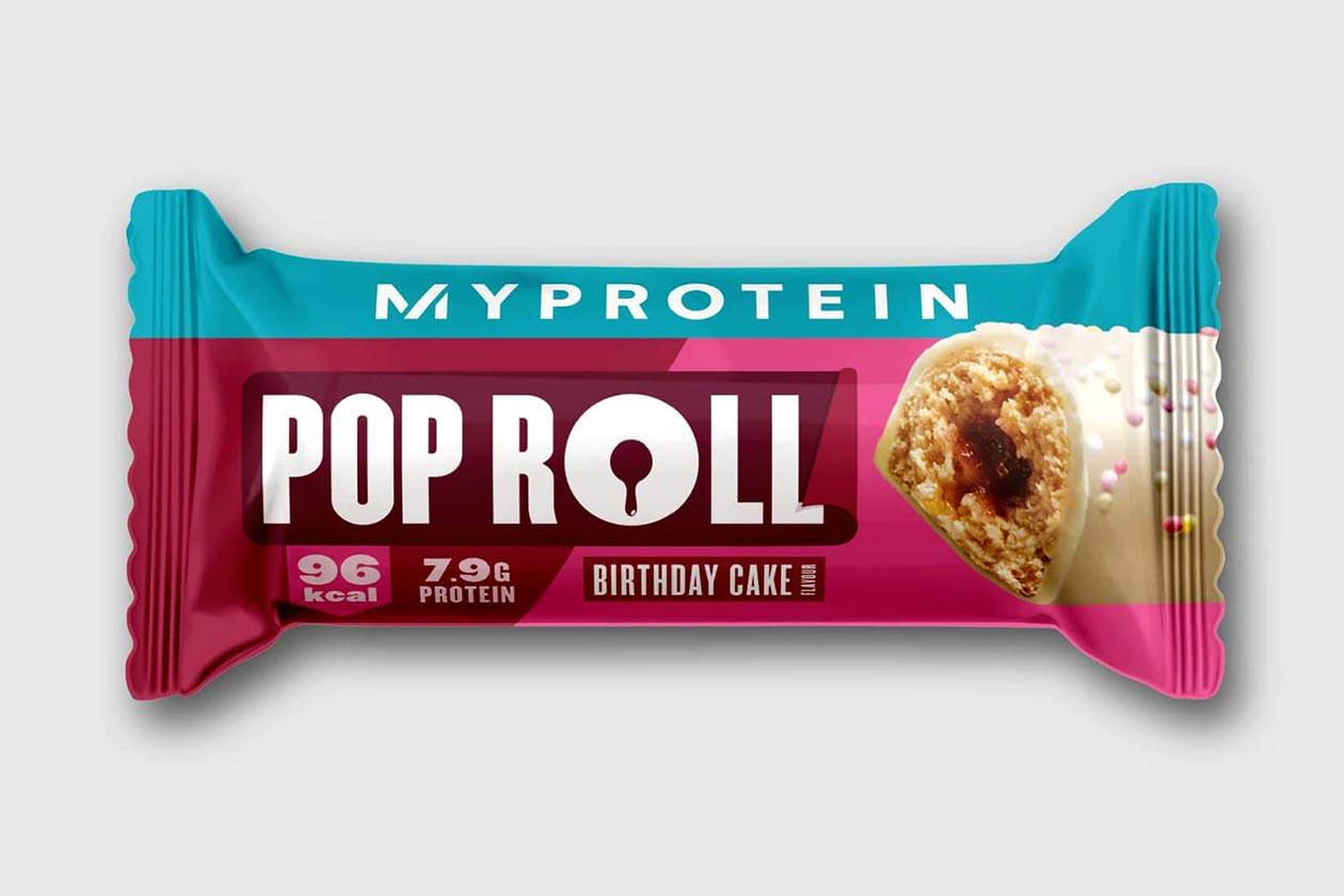 myprotein birthday cake pop roll