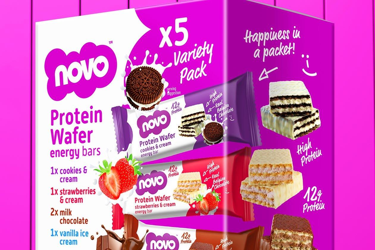 novo nutrition protein wafer variety bundle