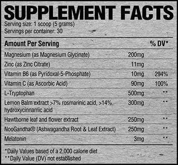 raw nutrition sleep