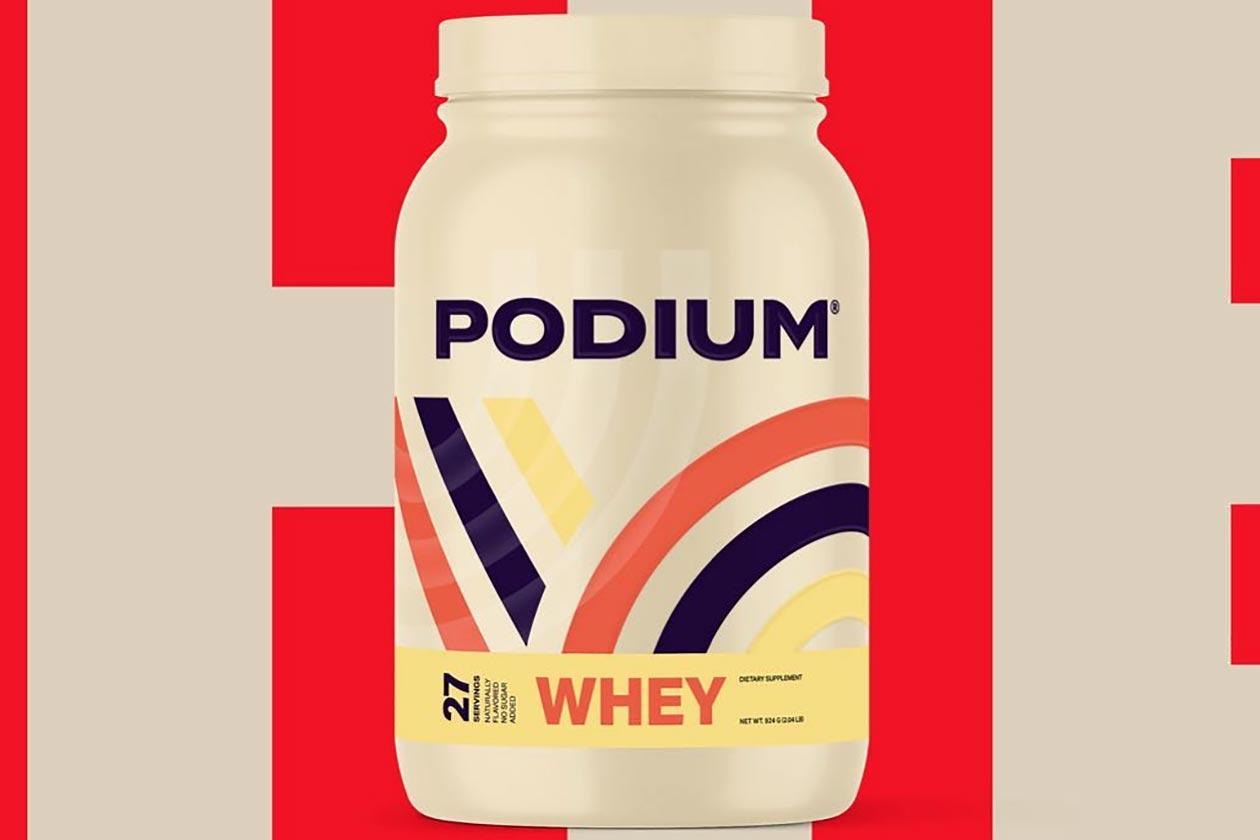 podium whey protein powder