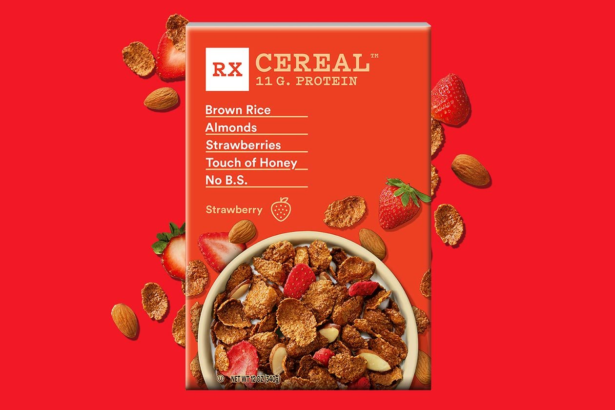 rxbar strawberry rx cereal