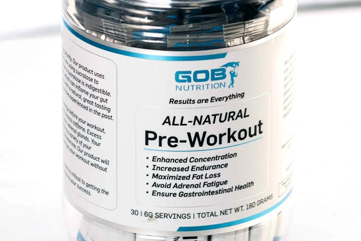 gob nutrition all natural pre-workout