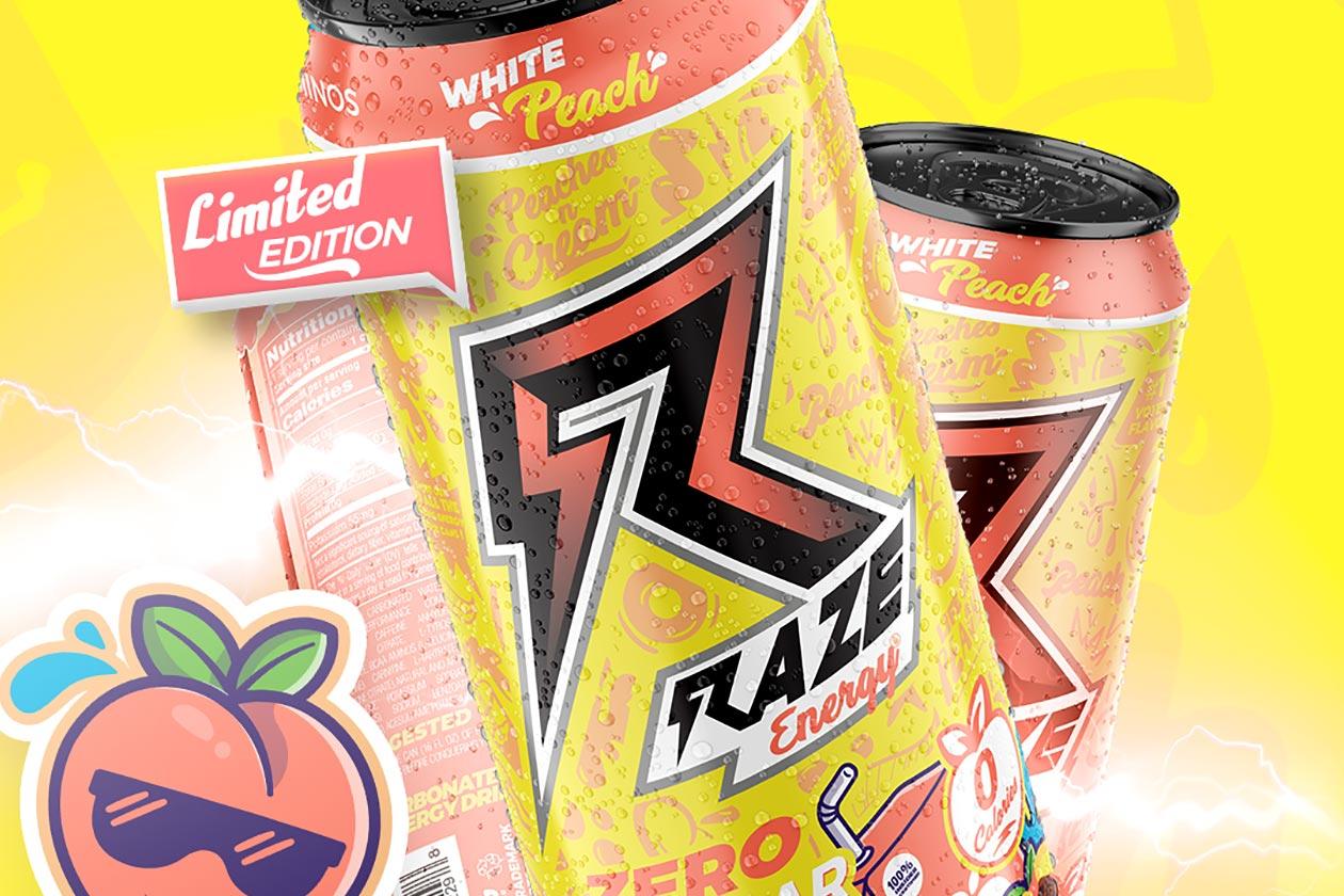 White Peach Raze Energy Drink