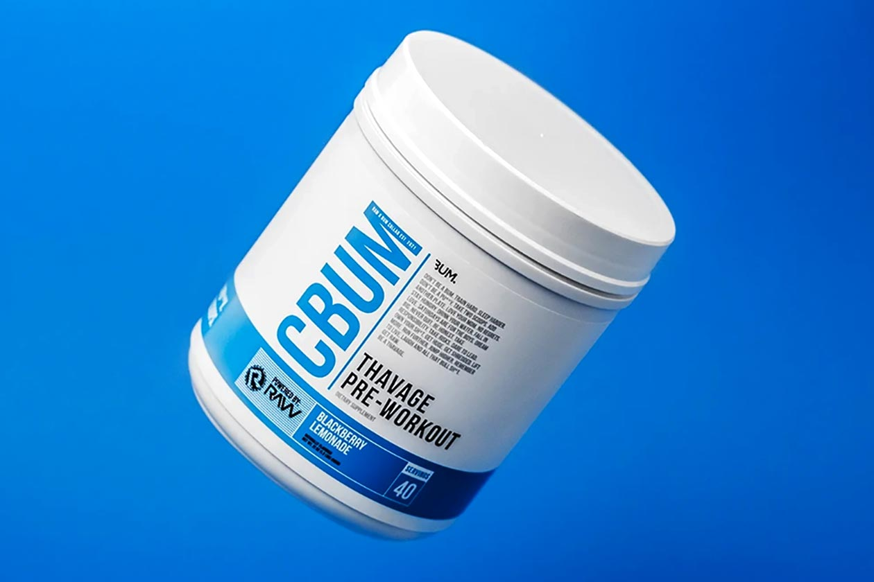Chris Bumstead Raw Nutrition Thavage Pre Workout